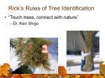 rick s rules of tree identification32