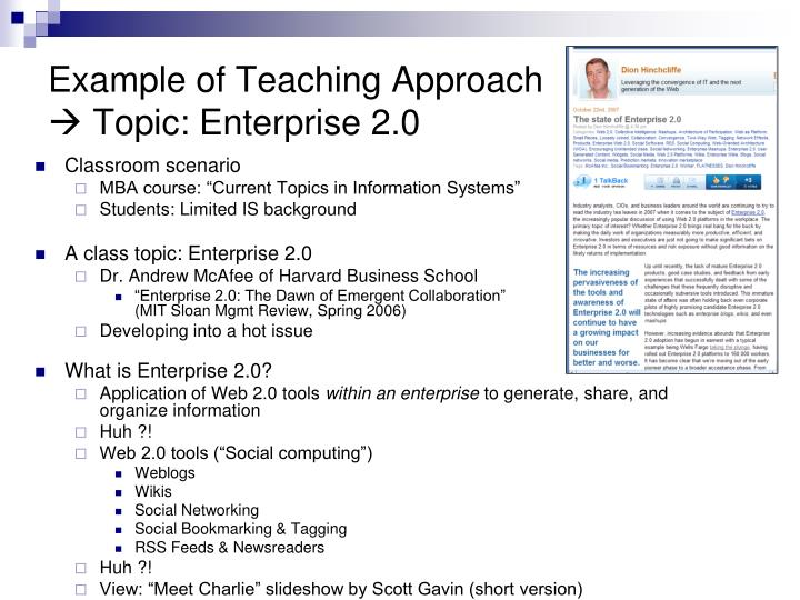 Example of Teaching Approach