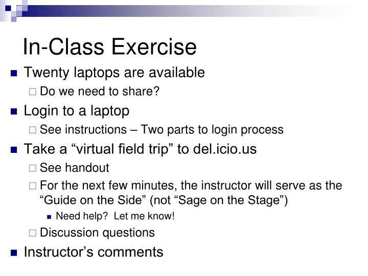 In-Class Exercise