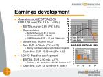 earnings development