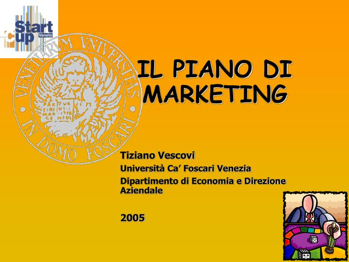 il piano di marketing n.