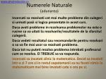 numerele naturale adunarea