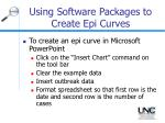 using software packages to create epi curves27
