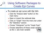 using software packages to create epi curves28