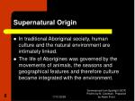 supernatural origin