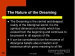 the nature of the dreaming