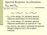 spectral response accelerations s ds and s d1