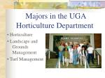 majors in the uga horticulture department
