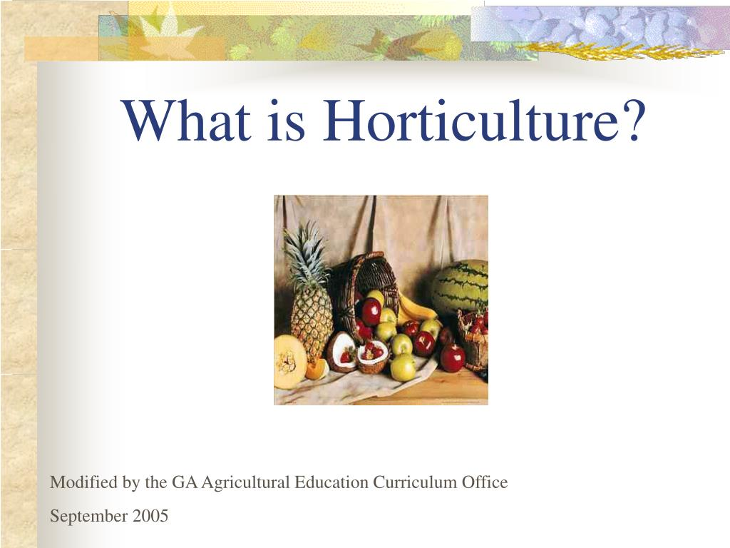 what is horticulture l.