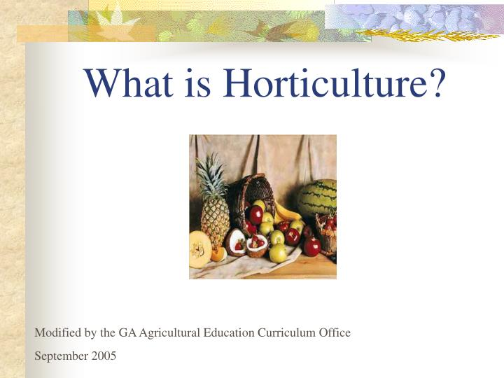 what is horticulture n.