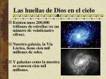 las huellas de dios en el cielo