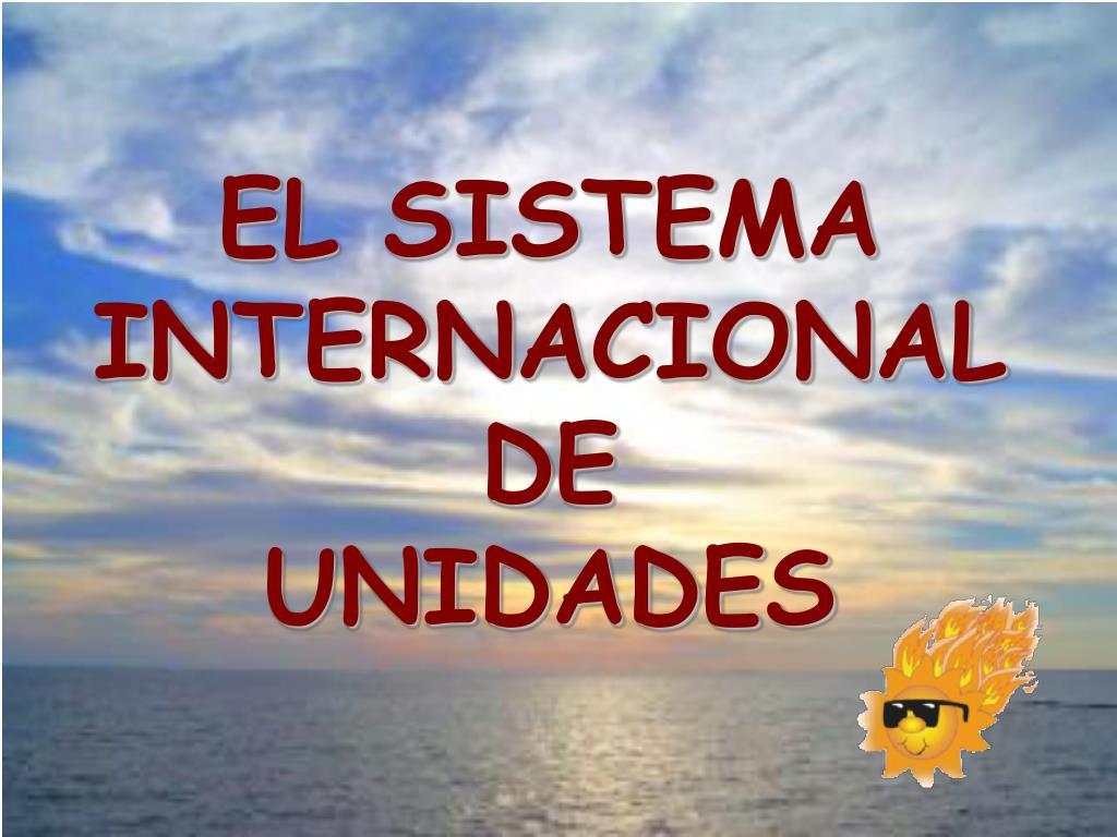 el sistema internacional de unidades l.