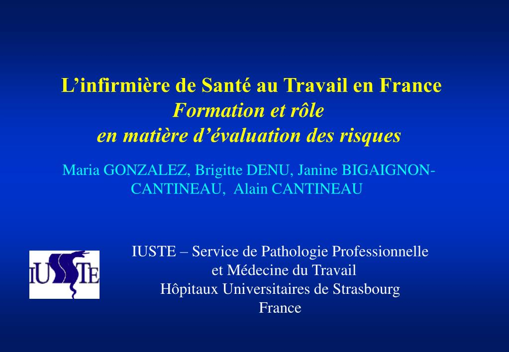 l infirmi re de sant au travail en france formation et r le en mati re d valuation des risques l.
