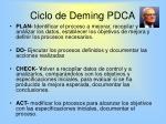 ciclo de deming pdca38