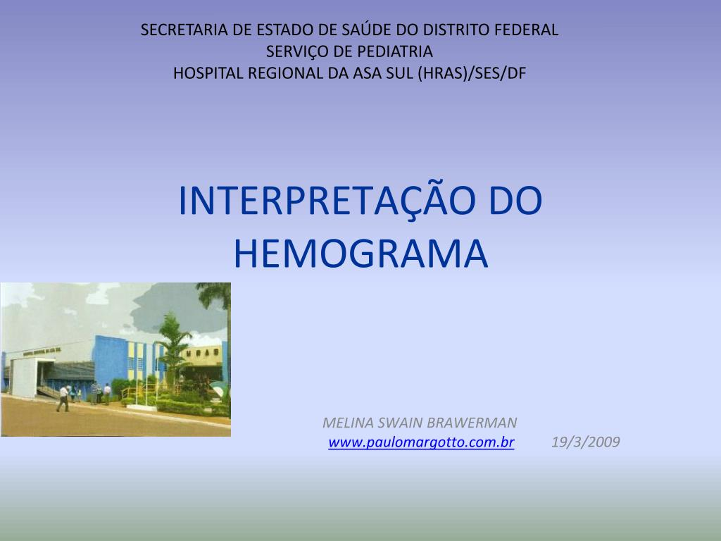 interpreta o do hemograma l.