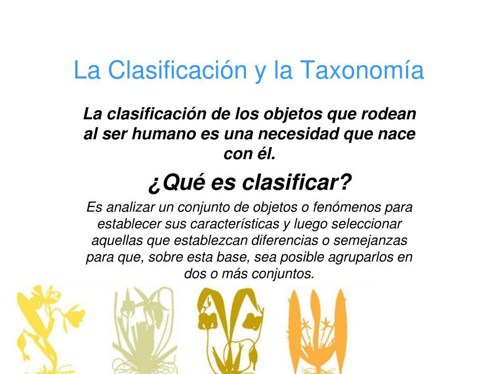 la clasificaci n y la taxonom a l.