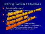 defining problem objectives