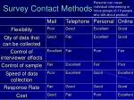 survey contact methods