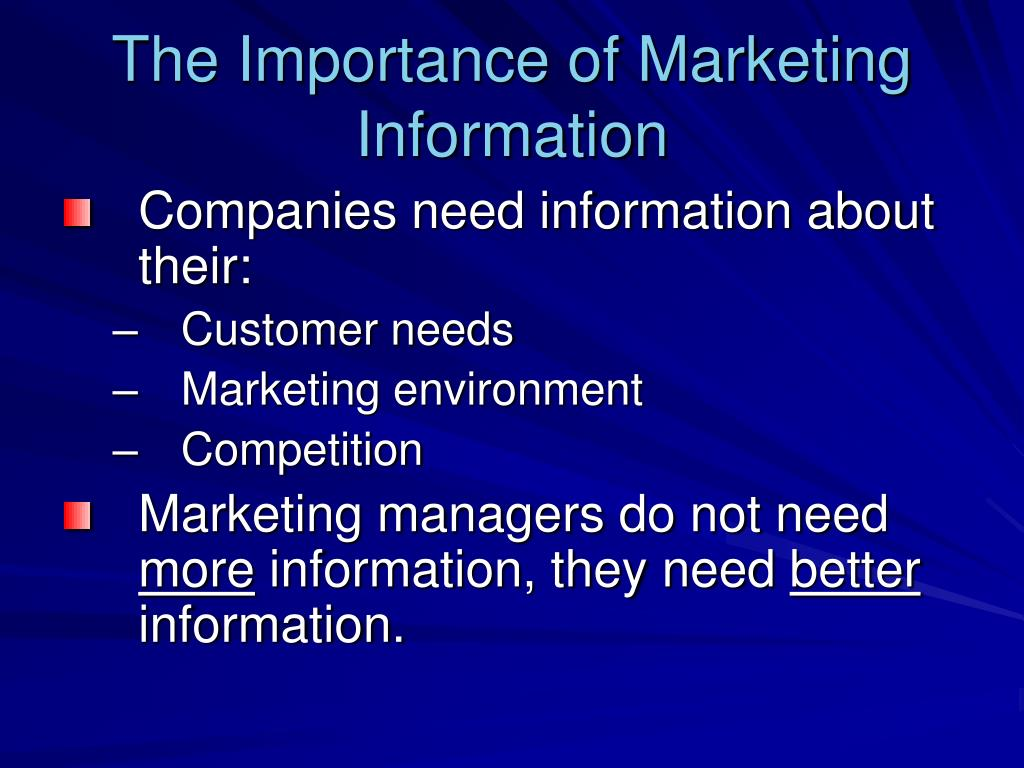 the importance of a marketing information