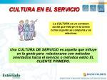 cultura en el servicio