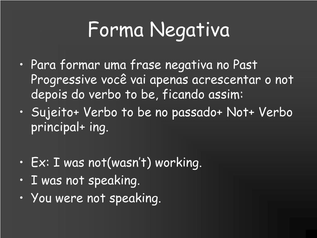 Forma Negativa