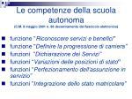 le competenze della scuola autonoma c m 9 maggio 2001 n 86 decentramento del fascicolo elettronico