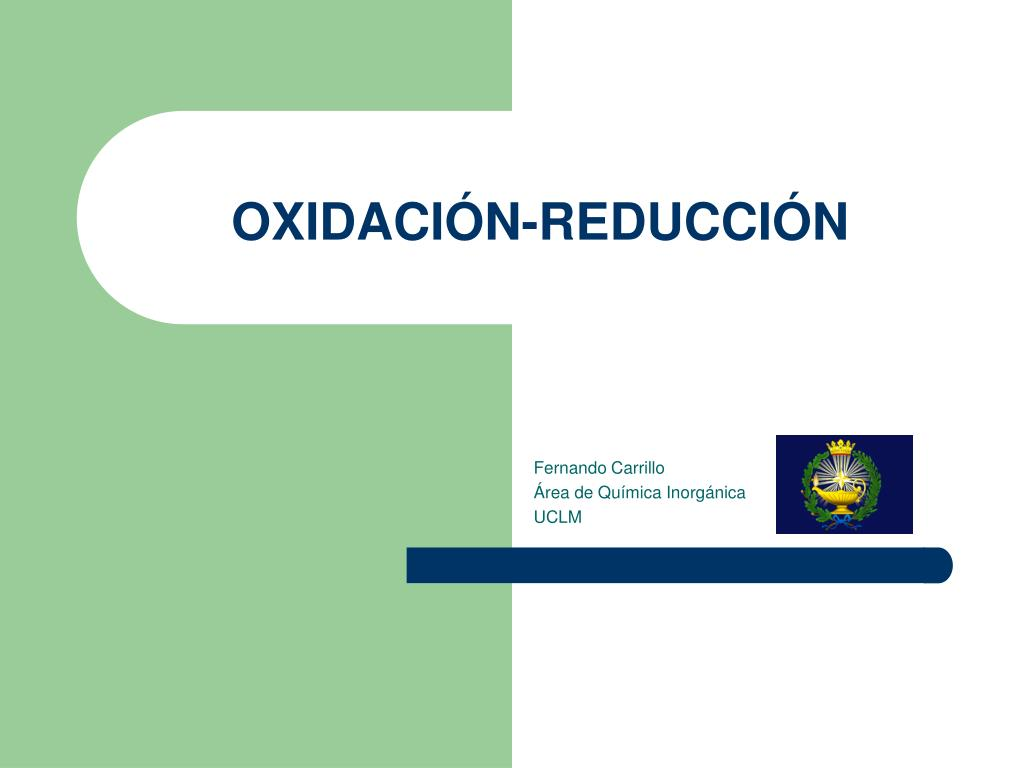 oxidaci n reducci n l.