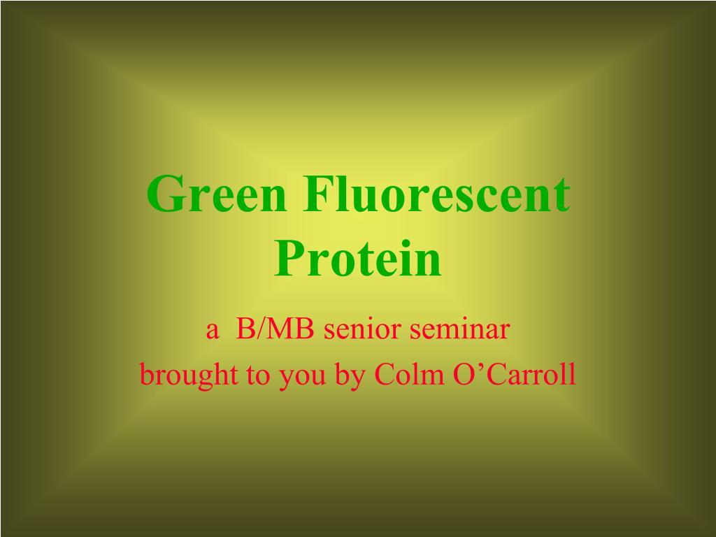 green fluorescent protein l.