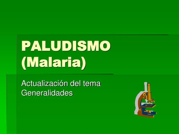 paludismo malaria n.