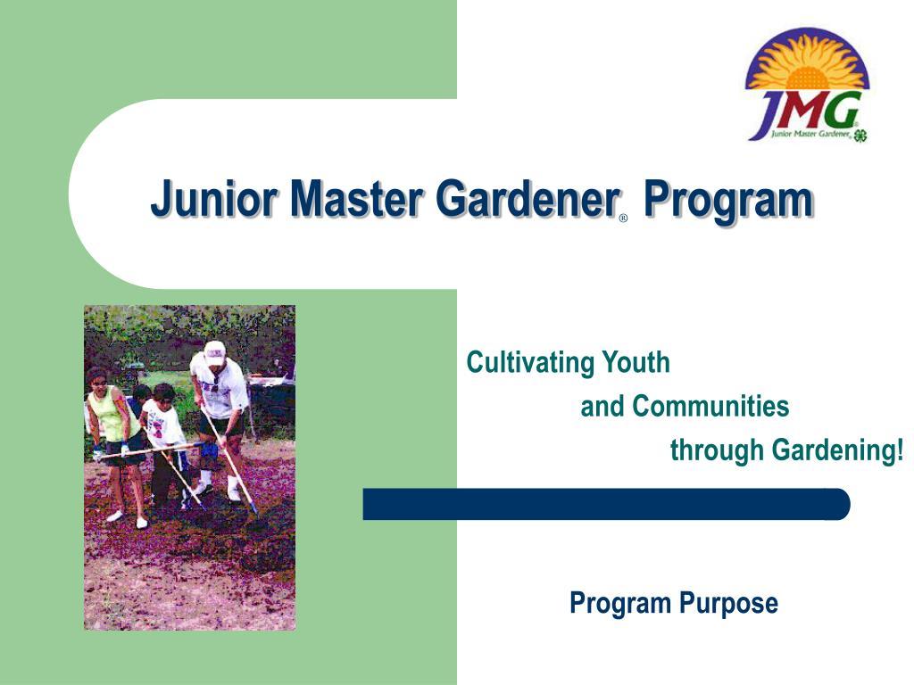 junior master gardener program l.