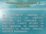 propension marginal a consumir