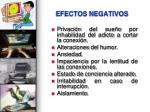efectos negativos