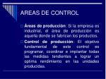 areas de control