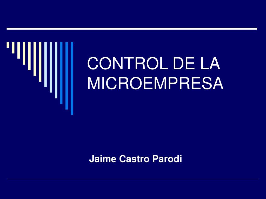 control de la microempresa l.