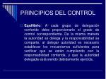 principios del control