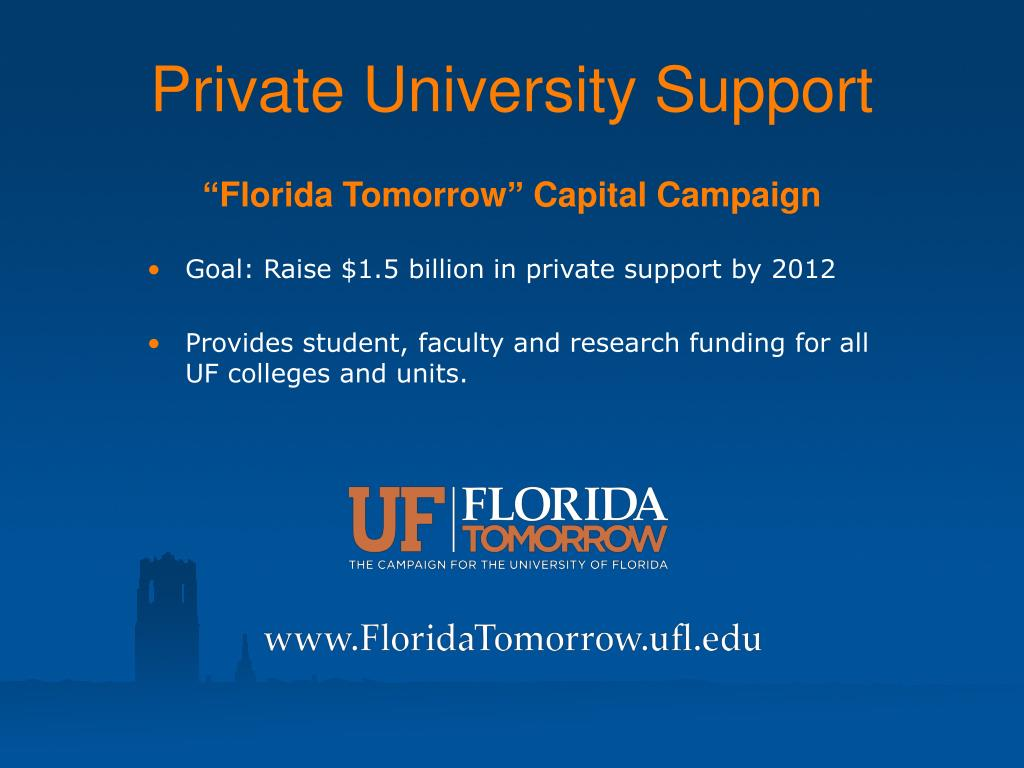 Private University Support