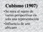 cubismo 1907