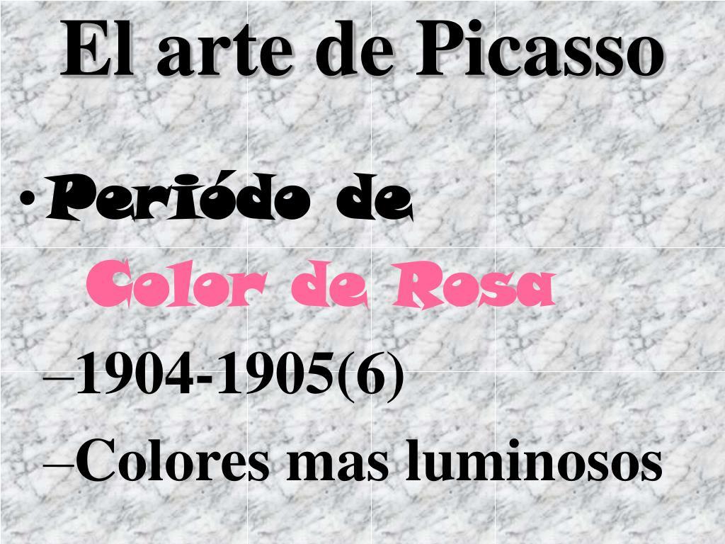 El arte de Picasso