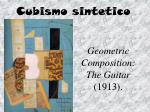 geometric composition the guitar 1913