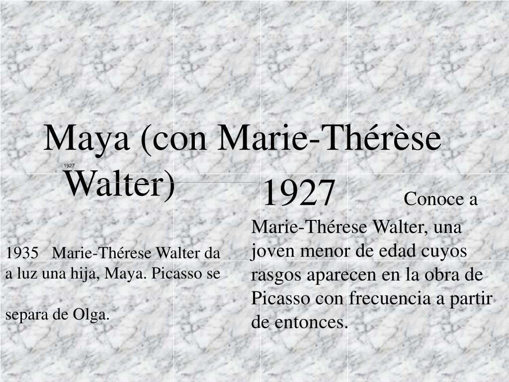 Maya (con Marie-Thérèse Walter)