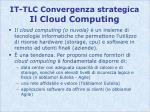 it tlc convergenza strategica il cloud computing