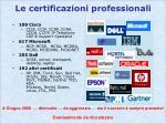 le certificazioni professionali