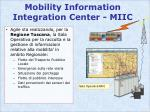 mobility information integration center miic