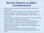 nuvola italiana vs agile considerazioni
