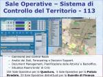 sale operative sistema di controllo del territorio 113