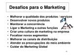 desafios para o marketing