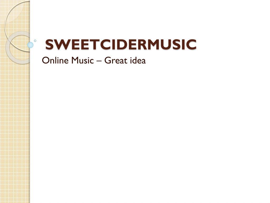 sweetcidermusic l.