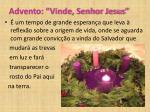 advento vinde senhor jesus