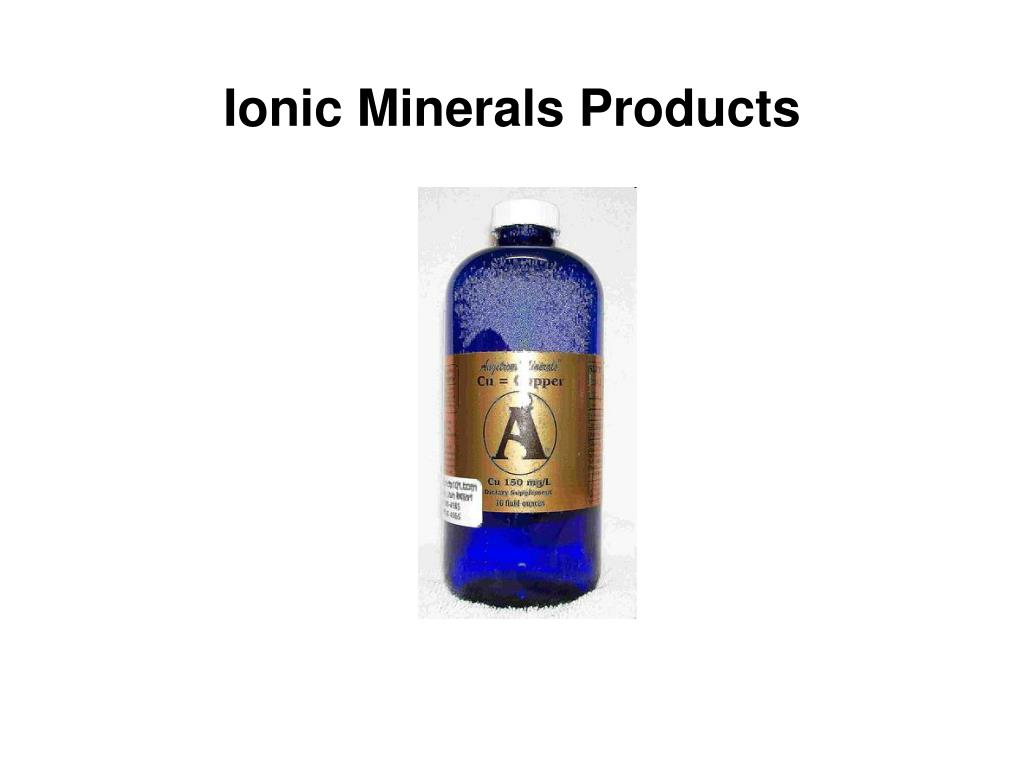 ionic minerals products l.
