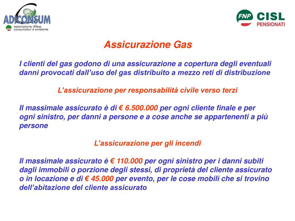 Assicurazione Gas